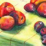 Still life watercolour painting