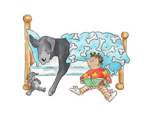 Publicity Illustration from Geronimo the Dog who Thinks He's a Cat