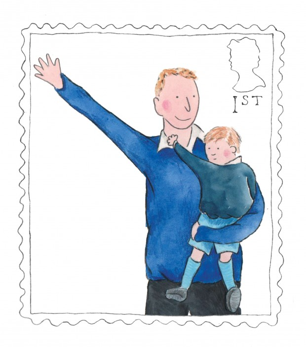 Royal illustration of Prince William and Prince George