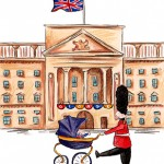 Illustrations from a book celebrating the birth of Prince George